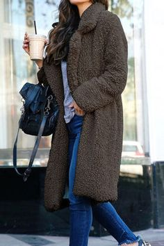 6b6ae6800d fashion lapel long sleeve plain casual coats Módní Obuv