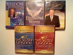 5 NEW Pat Robertson DVD LOT- Secret Kingdom ,Joshua Plan ,700 Club,Christian