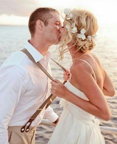 Simple wedding dress, flower head piece