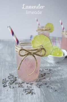 Lavender Limeade. Perfect spring refresher with no refined sugar