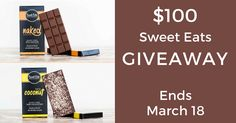 Win $100 worth of Sweet Eats Paleo friendly chocolate. Giveaway ends on March 18!