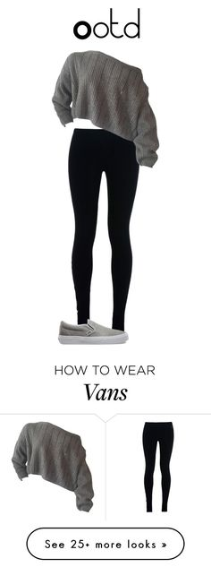 """""""Ootd"""" by nicoleflower on Polyvore featuring NIKE and Vans"""