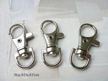 10 x Schlüsselring Karabiner