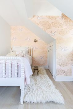 Dreamy room for a little girl   'Daydream' wallpaper by Hygge & West   Elle Decor