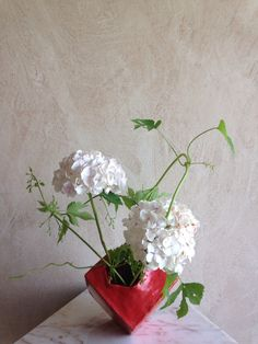 Hydrangea and hop vines Ikebana Rita Nagelkerke