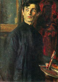 Retrato de P. D. Korin (Портрет П.Д.Корина, 1925) Mijaíl Vasílievich Nésterov (Михаил Васильевич Нестеров. Unión Soviética. Rusia, 1862-1942)*
