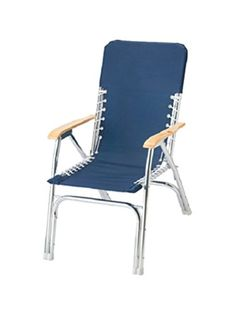 Marine Deck Chairs Vintage Industrial Desk Chair Padded For Boat Anodized Aluminum Set Of 4 Garelick Classic Navy Blue Http Www Amazon