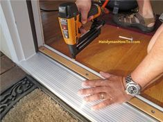 Door+Threshold+Extender+for+Exterior | Exterior Door Threshold Install Base & step by front door repair | Replacing a Sill and Threshold | Front ...