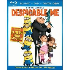 Amazon.com: Despicable Me (Three-Disc Blu-ray/DVD Combo): Steve Carell, Jason Segel, Pierre Coffin and Chris Renaud: Movies & TV: Disclosure: affiliate link