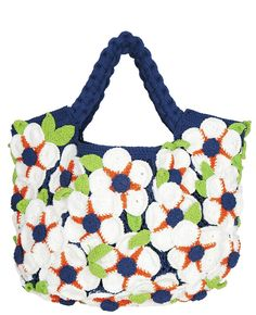 Yvonne Bag Flower Making, Crochet Flowers, Hand Crochet, Flower Power, Knots, Arms, Pure Products, Chic, Cotton
