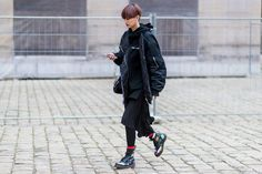 All the Best Street Style Moments from Paris Fashion Week - Streetwear edge from InStyle.com