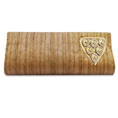 Beautiful Raw silk fabric woman rhinestone brooch clutch purse /handbag. ..this is img