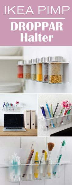 Mit unserem #DROPPAR #Gewürzhalter für #Ikea #Küchen kannst du auch andere #Dinge praktisch aufbewahren / useful #storage of #bits and #pieces