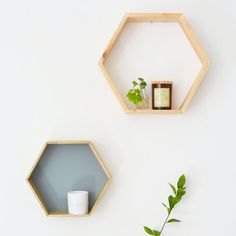 Discover how simple it is to make these scandi inspired geometric shelves for your home.