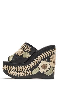 Jeffrey Campbell Shoes MARISOL-W Platforms in Black Combo