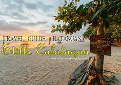 Stilts Calatagan Beach Resort boasts 24 hectares of white sand beaches, rolling hills, flower-filled gardens, and wonderful cottages on stilts. Batangas, White Sand Beach, Beach Resorts, Travel Guides