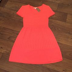 Fun Summer Dress Miami bright sweater dress, ideal for a bridal or baby shower! 100% acrylic. New with tags. Bought for a graduation and ended up not wearing it! Hits right above the knee. Francesca's Collections Dresses