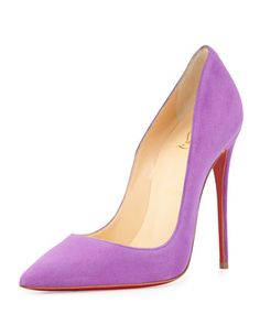 So Kate Suede Red Sole Pump by Christian Louboutin at Bergdorf Goodman.