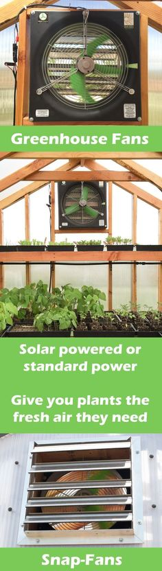 Solar powered greenhouse fan! snap-fan: greenhouse fan run direct on solar panel. High quality components built to last. greenhouse fan for hobby sized greenhouses. #snap-fan #solarfan #solargreenhouse #greenhouse #greenhousefan