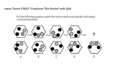 On this page are lots of non-verbal reasoning UMAT questions for you to work through: continue the series, complete the diagram, middle of the sequence- now in test format; Middle, This Or That Questions, Education, Free, Learning, Teaching, Studying