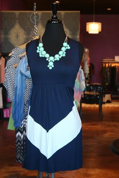What a great dress for Spring!  Add a pair of our capri leggings and strappy sandals to complete the look!  Sz. S-L