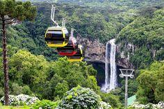 Cascata Caracol, Canela- RS... a natureza  de um ângulo privilegiado. Foto site Bondinho