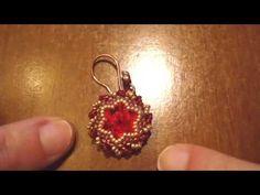 Beaded bezel Rivolis: My Swarovski Earrings | Beaded Jewelry   http://www.sararmoniasara.com .____. http://www.beadsfriends.com  Facebook ------°°°° http://www.facebook.com/BeadsFriends  To contact me, send an email to sara@beadsfriends.com