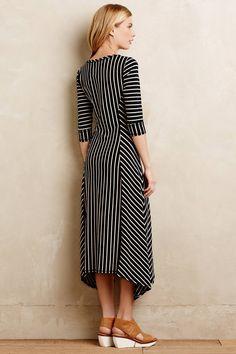 $138 Pieced Stripe Dress - anthropologie.com