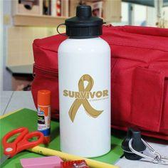 Childhood Cancer Survivor Water Bottle