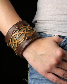 Celtic Leather Cuff