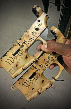 """We the people"" Engage Armament LLCConstitution Billet Lower SIG-Sauer Tac Gear, Gun Art, Cool Guns, Assault Rifle, Guns And Ammo, Self Defense, Tactical Gear, Firearms, Weapons"
