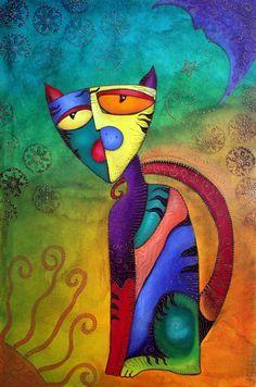 """Celestial Cat"" by artist 'Laura Barbosa' via 'imagekind.com'✽❤❦❤✽"