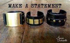 For the leather cuff addicts. Find more armcandy at www.annasukardi.com.