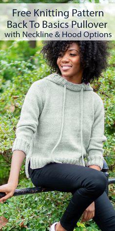 Free Knitting Patterns For Women, Easy Knitting, Baby Knitting Patterns, Knitting Stitches, Knitting Yarn, Raglan Pullover, Lion Brand Yarn, Drops Design, Lana