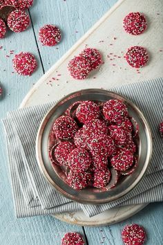 Valentine's Red and White Chocolate NonPareils by brenthofacker