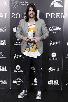 El cantante Melendi en los Premios Dial