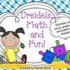Chanukah, math - This is a great way to integrate math and holiday fun! Your students will estimate, sort, count, and more while enjoying dreidels.    Contents are ...