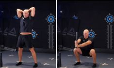 The steel club barbarian squat is a fantastic upper/lower body and core exercise Barbarian, Pilates, Squats, Reebok, Core, Training, Exercise, Steel, Workout