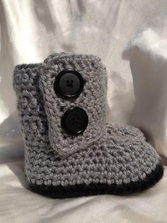 Baby Girl Crochet Baby Boots