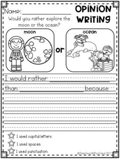 GROWING BUNDLE Writing Prompts Opinion Picture