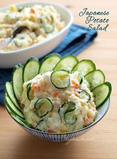 Japanese salad, potato salad, kid, toddler, vegetarian, food for tots