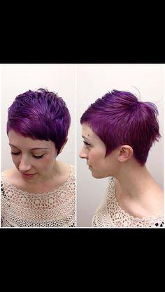 aubergine short hair - Google zoeken