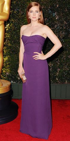AMY ADAMS The star wore an elegant corseted purple Vivienne Westwood gown, styled with Irene Neuwirth jewelry and an Edie Parker clutch for the Academy of Motion Picture Arts and Sciences' Governors Awards in Ao Dai, Popsugar, Amy Adams Style, Taylor Swift, Actress Amy Adams, Fashion Models, Red Carpet Looks, Green Carpet, Red Carpet Dresses