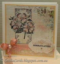 Antique Wedding Card by CeciliaH - Cards and Paper Crafts at Splitcoaststampers