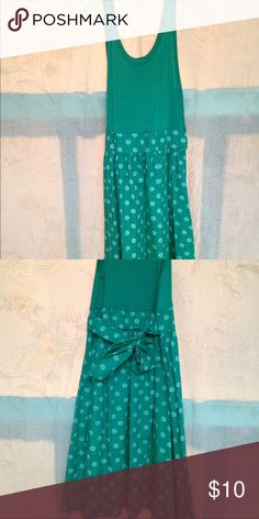 NEW Cherokee Girls Dress 10/12 Never Worn. Cherokee brand, size 10/12. Green and white polka dot tank dress. Ties in back. 36 inches long. COMBINE SHIPPING AVAILABLE FOR MULTIPLE ITEMS UP TO 5 LBS FOR SAME FEE. Cherokee Bottoms Skirts