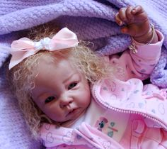 Reborn Baby girl Emma...Luca kit by Elly Knoops...6 lbs & 7 oz's...19 inches...rooted hair..Created by me...2014