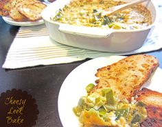 Cheesy-Leek-Bake Recipe, Leek Recipe, Dip with Leeks, Sweetphi Blog Recipe
