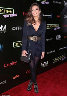 Center of attention: Jessica Alba gave onlookers some extra reasons to give her the once over as she strolled down the red carpet for the premiere of Seoul Searching in Los Angeles on Friday