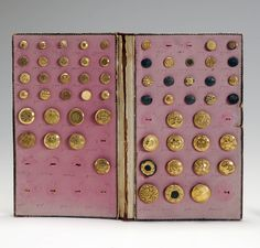 """Elizur Edward Prichard (1804-1860) entered into manufacturing with iron and brass castings in 1826. By 1829 he was making gilt buttons; in 1833 he added umbrella, parasol and cane trimmings to his inventory, frequently traveling to other states with his sales sample cases to establish his market. In 1843, """"Prichard"""" was awarded a certificate from the American Institute for his """"superior specimens of silk buttons."""" It later became the """"American Suspender Company"""" of New Haven."""