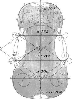 Technical drawing of violino piccolo by girolamo amati - Volpino piccolo ...